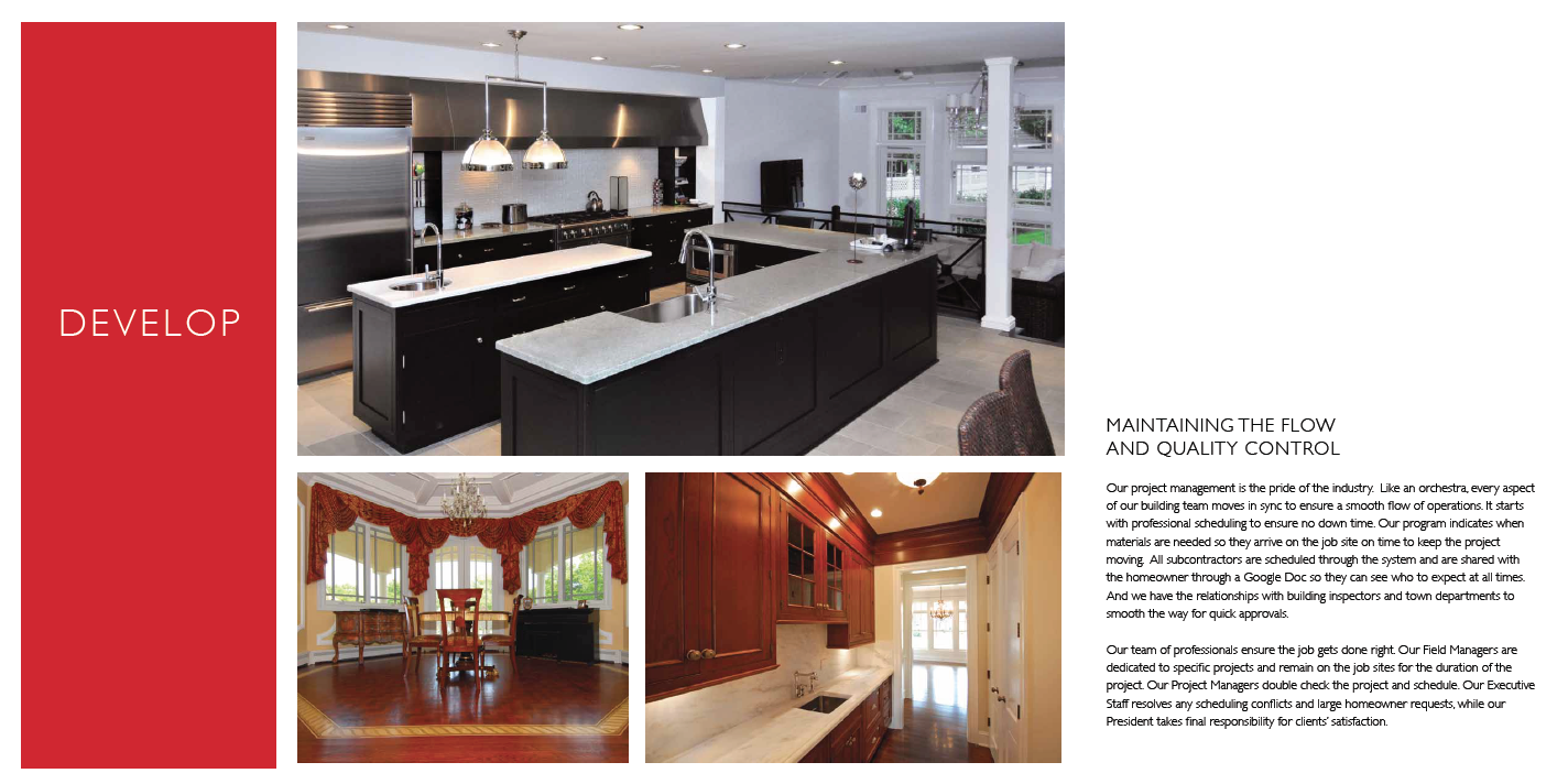 Monmouth Custom Builders Brochure Spread